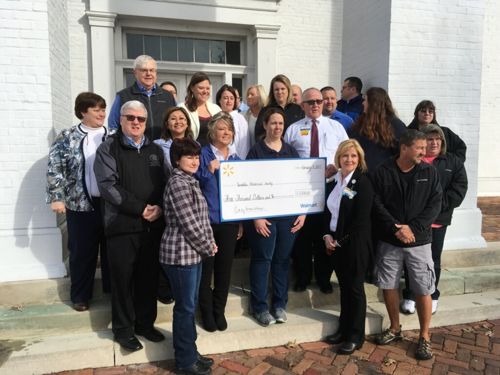 Vandalia Historical Society gets $3,000 donation from Wal-Mart