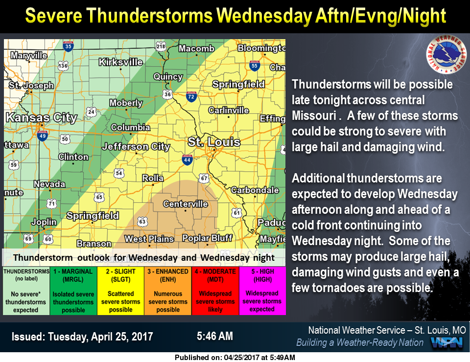 Warm and Dry today, potential for Severe Storms on Wed & Wed Night