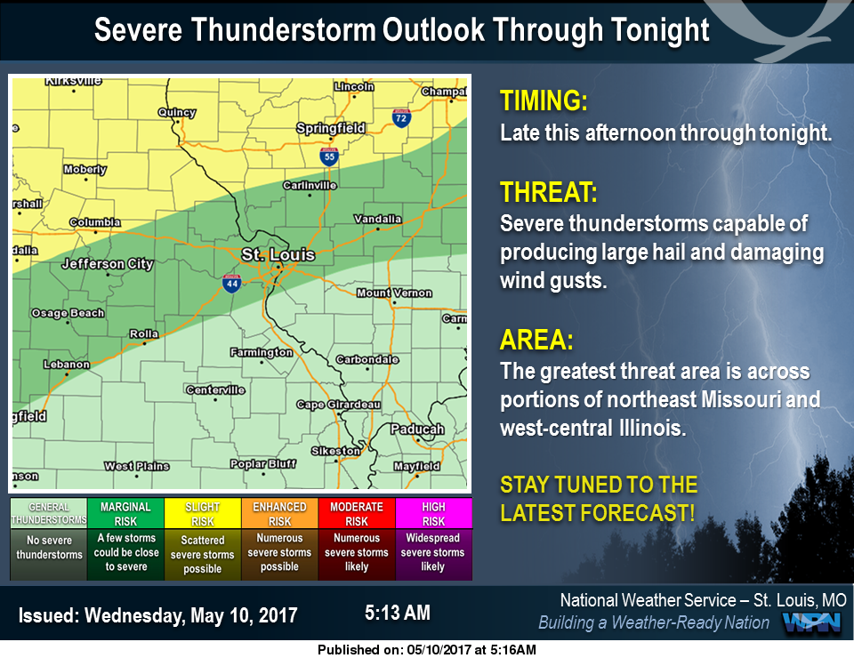 Showers & Storms for today and tonight---possibility of strong to severe storms