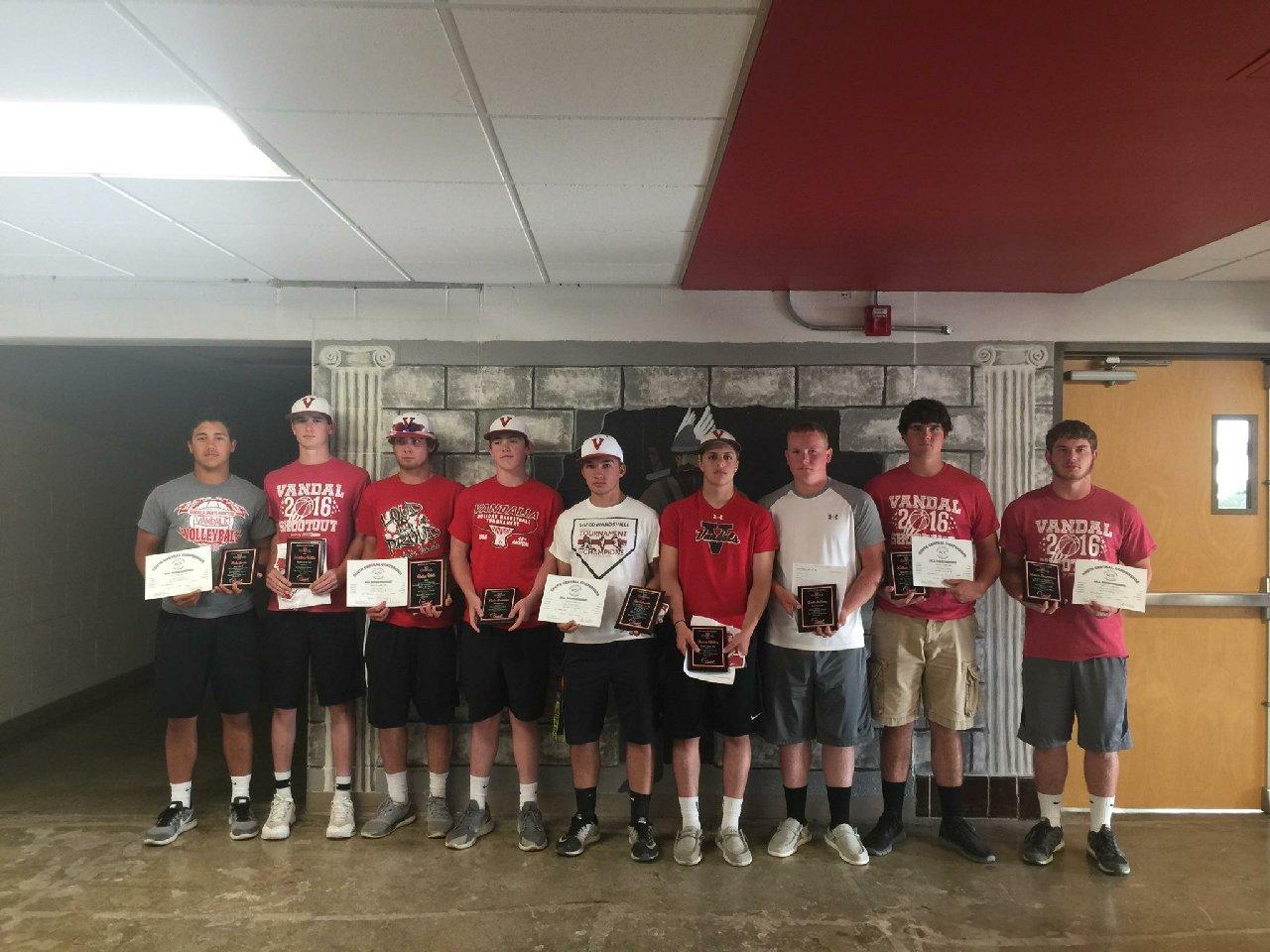 Vandals baseball team awards