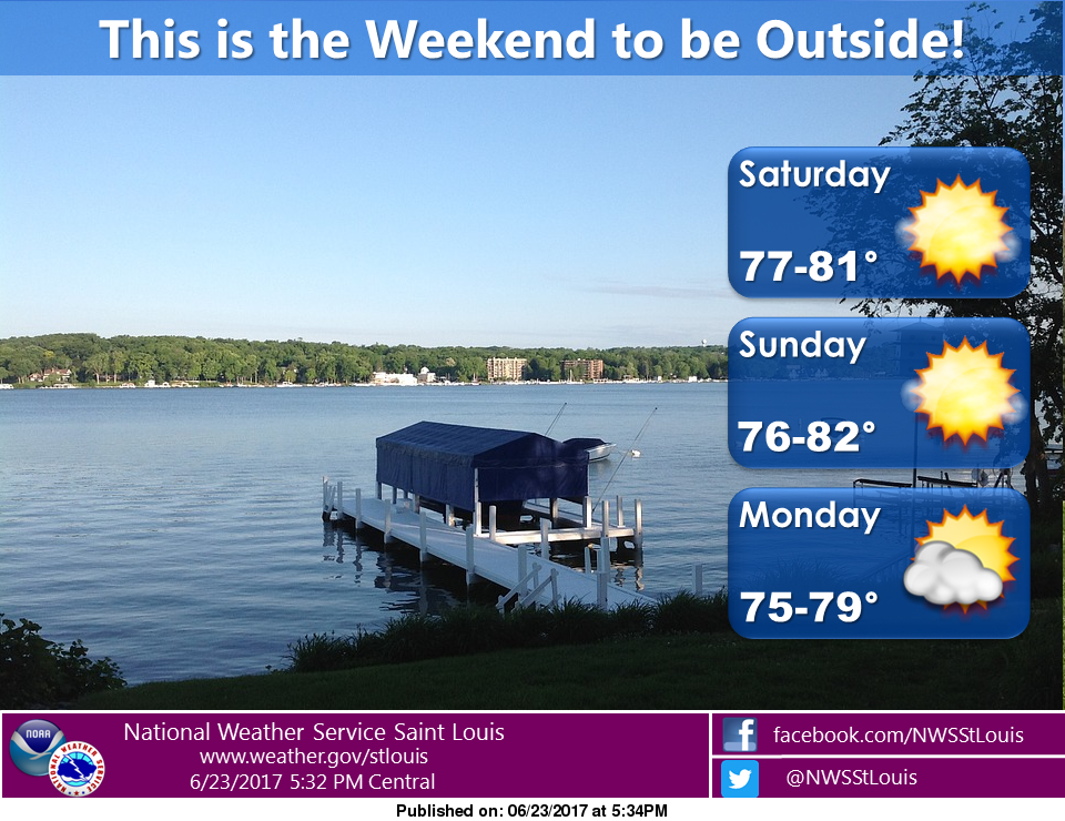 A dry and mild weekend for the area