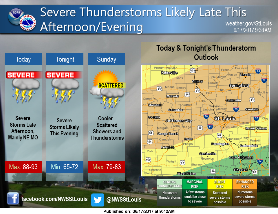"Updated weather model puts Fayette County with ""Enhanced"" Risk for Severe Weather tonight"