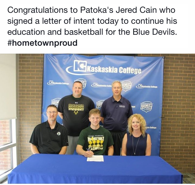 Patoka's Jered Cain will continue basketball career at Kaskaskia College