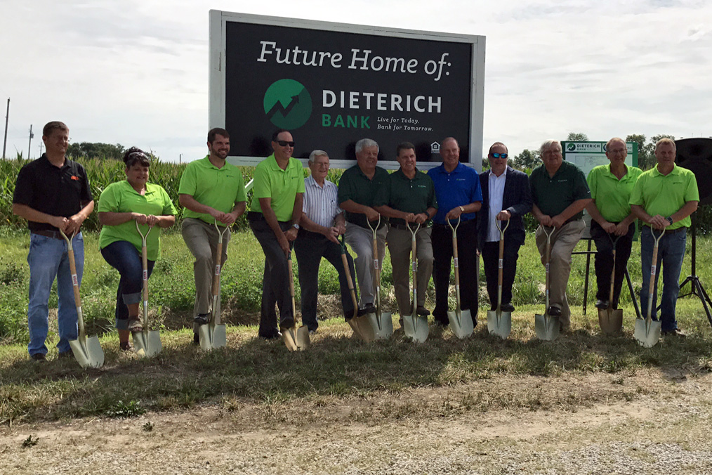 Dieterich Bank Holds Groundbreaking for New St. Elmo Facility
