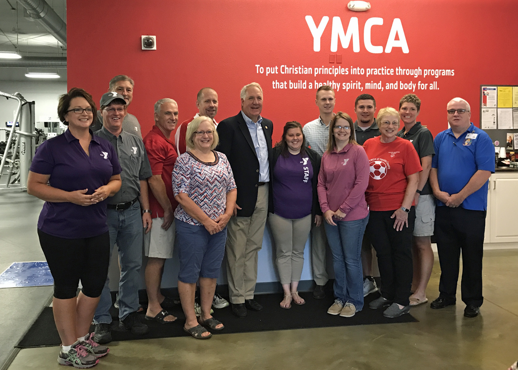 Congressman Shimkus Visits Fayette County YMCA on Friday