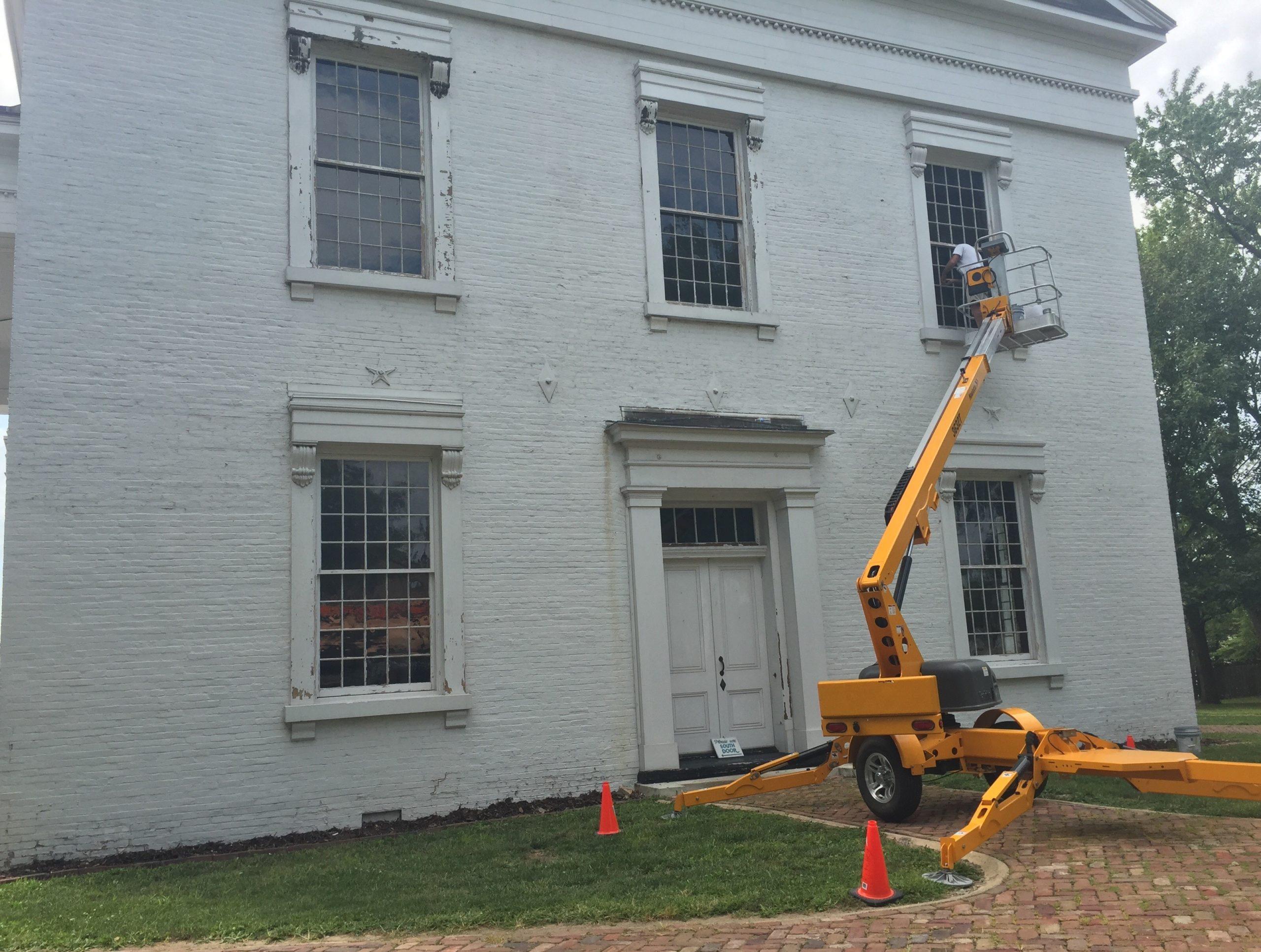 Window Renovations at Vandalia Statehouse