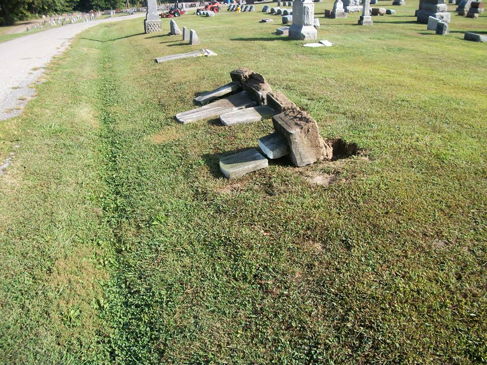 Reward Being Offered For Info on Cemetery Vandalism