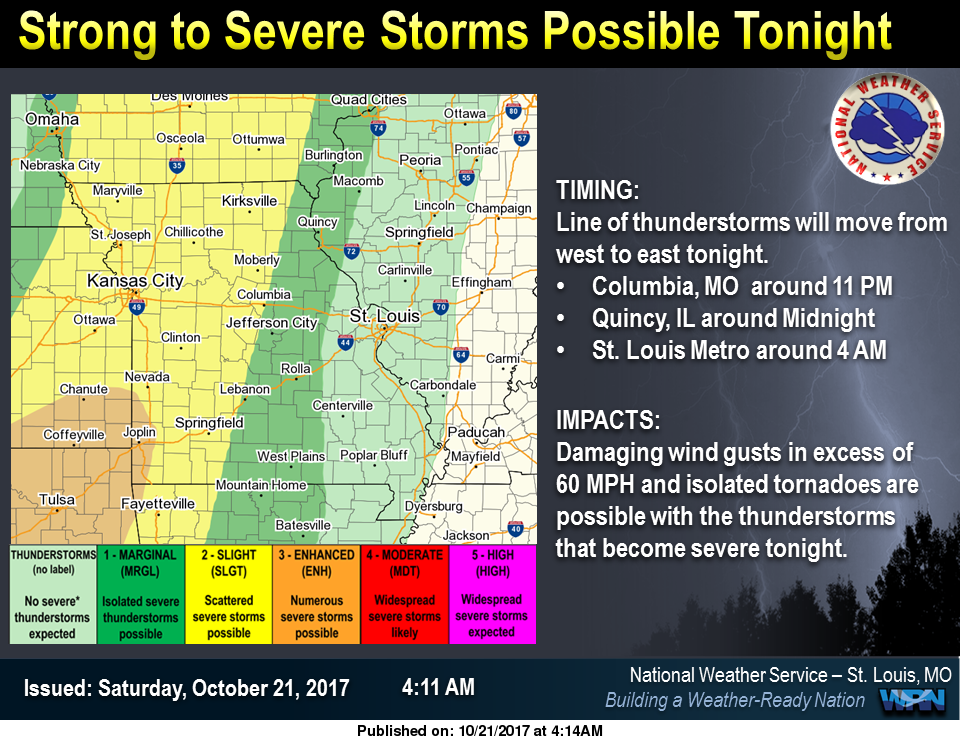 Weekend Weather--Could see Strong Storms early Sunday Morning
