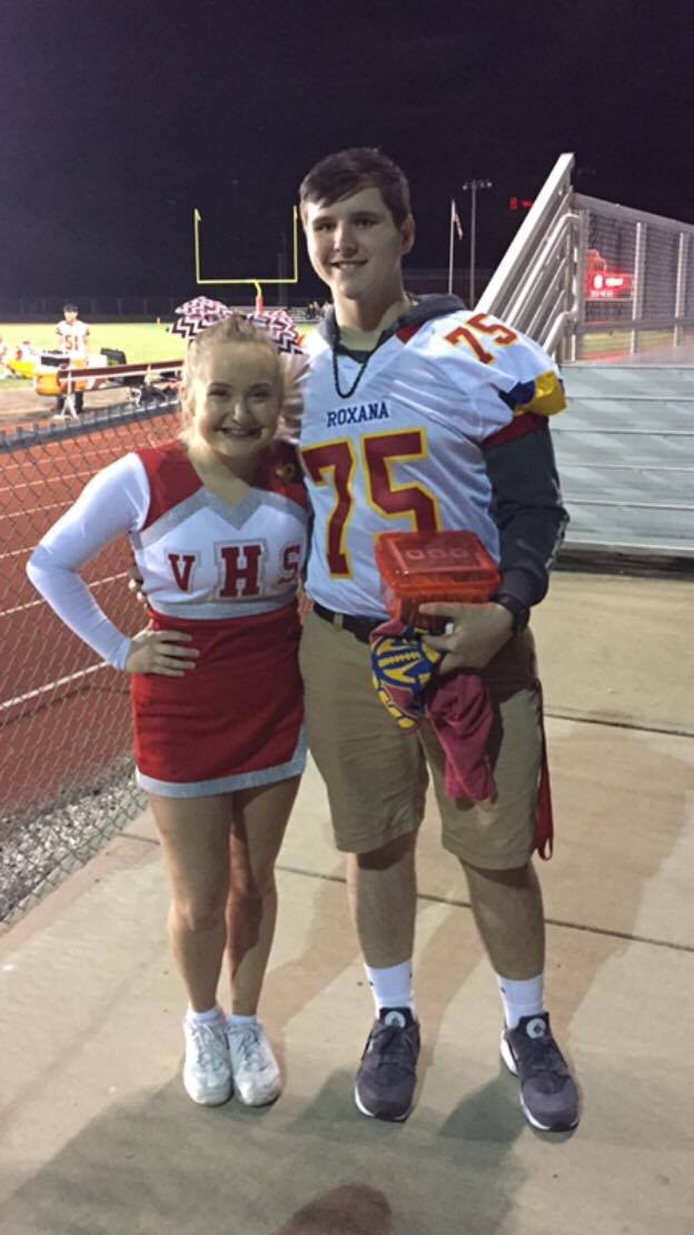 Over $1100 raised on Friday night to benefit Roxana HS Student battling cancer