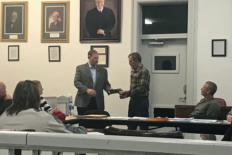 Fayette County Board Honors Bowen for Years of Service