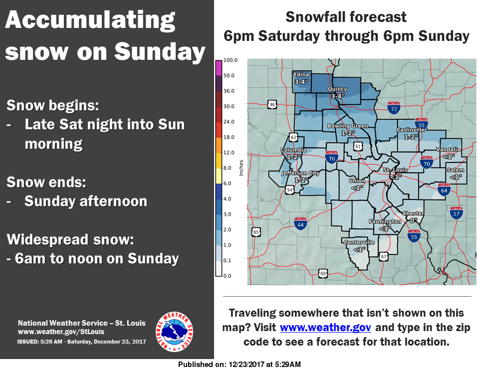 Snow tapering off this morning, more on the way for Christmas Eve