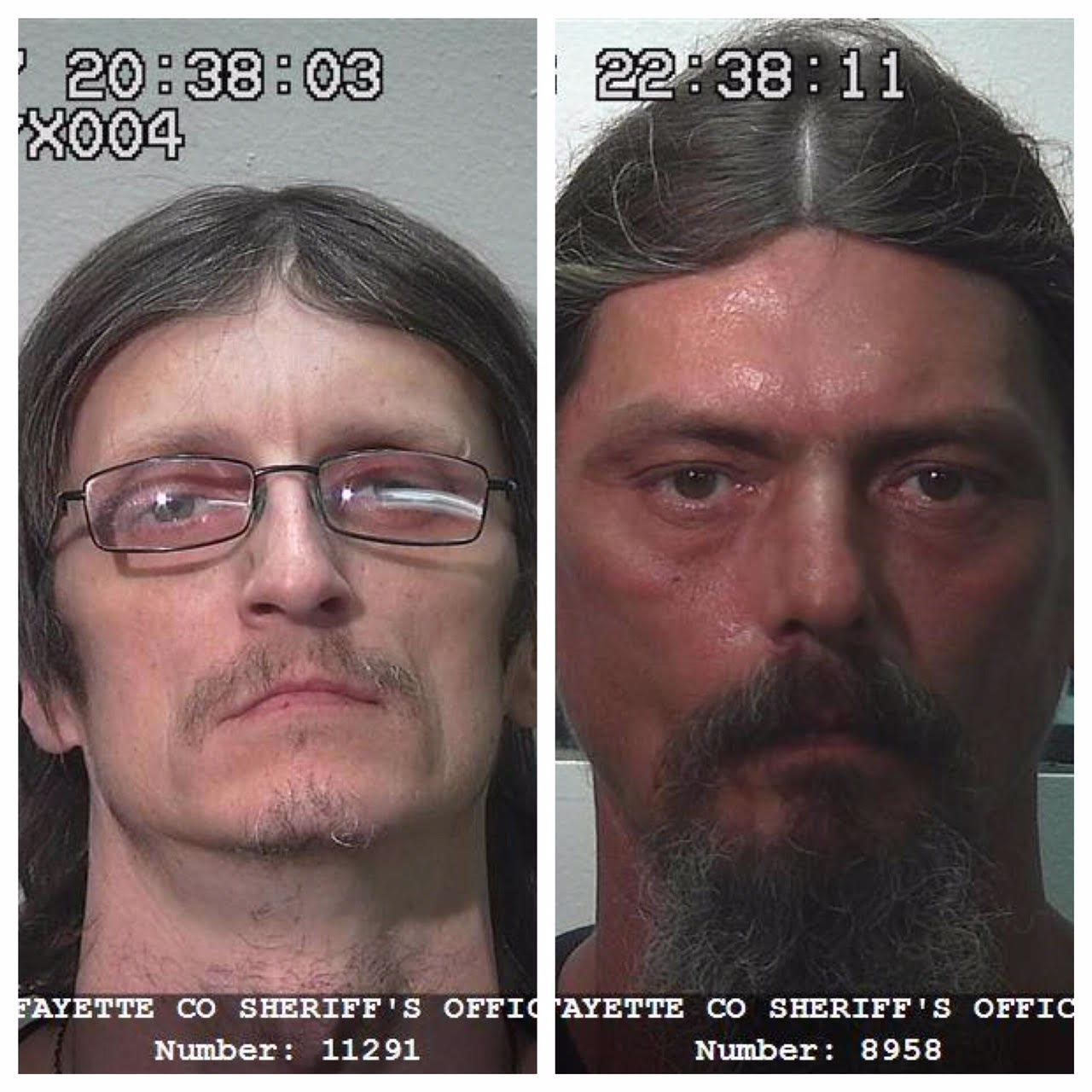 Two Vandalia men in the Fayette County Jail on Burglary Charges, arrested after search Sunday morning