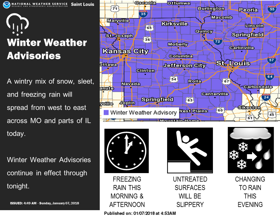 Winter Weather Advisory now in effect from noon today to midnight