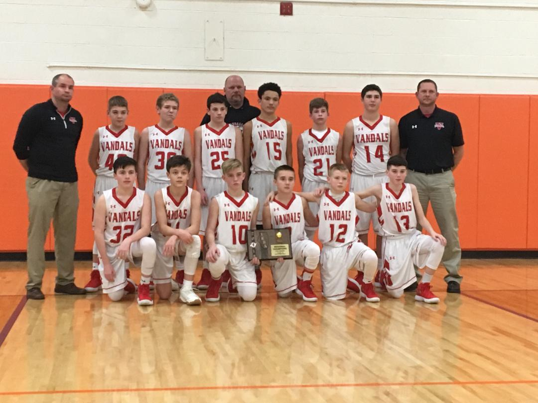 VJHS 7th grade boys basketball team wins Regional Championship