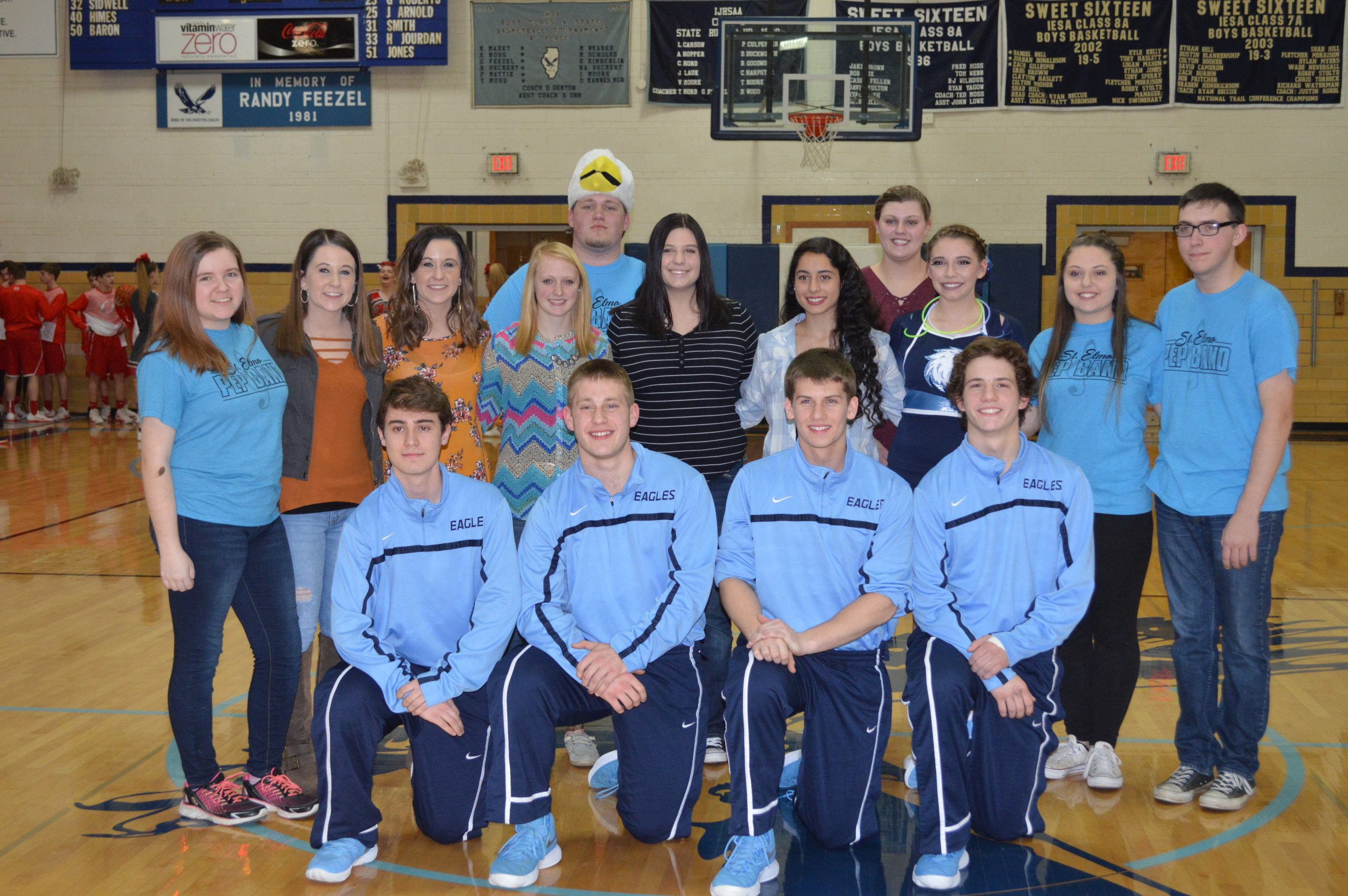St. Elmo-Brownstown Recognizes several Seniors for Final home basketball game