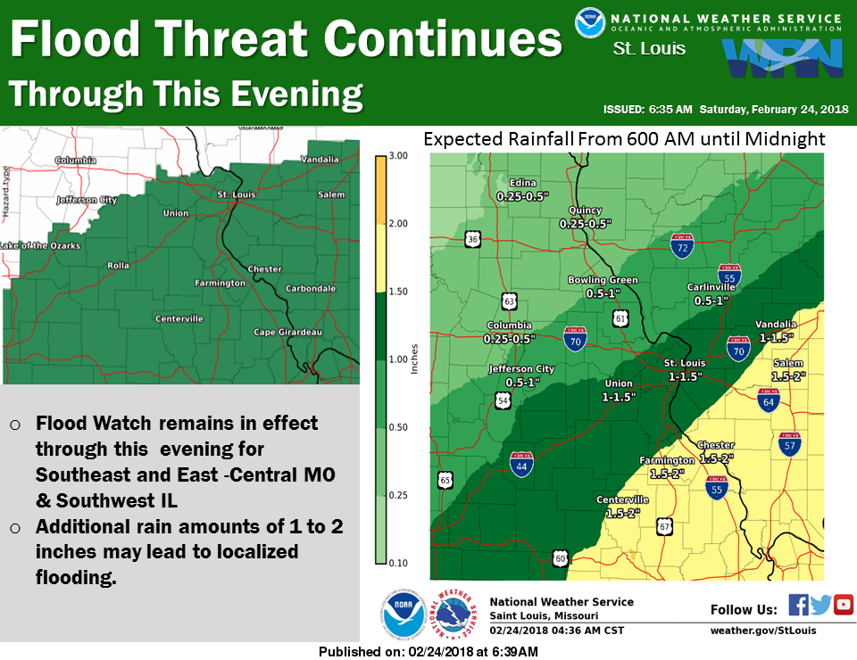 Rain & Storms for Today and Tonight, Could see heavy rain