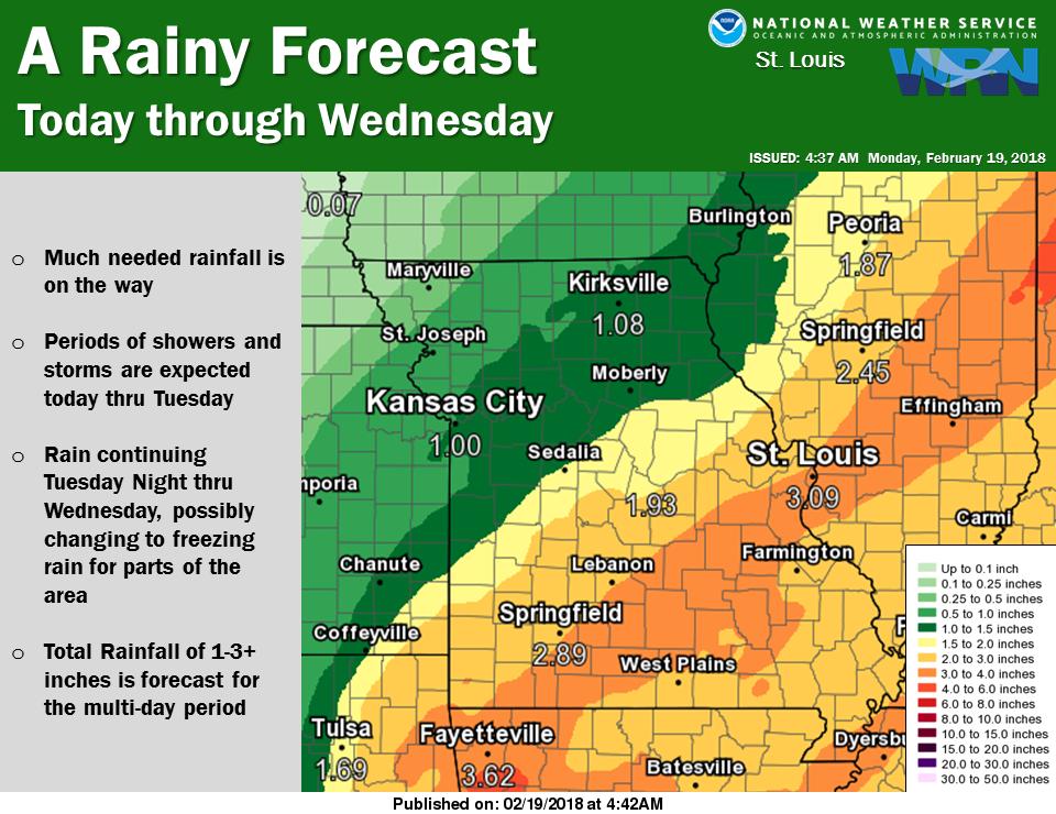 Warm Temps with Plenty of Rain & Storms the next 2 days