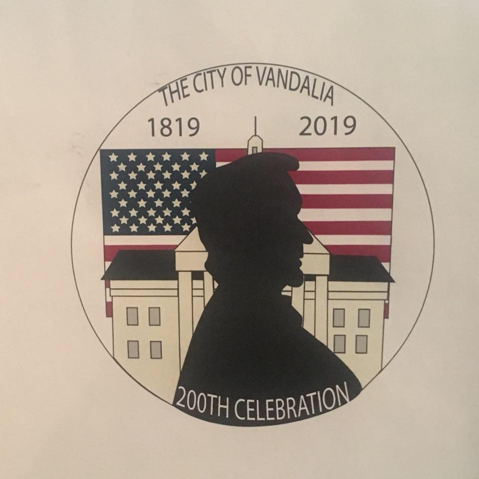 Drawing by Hannah Kershaw selected as Main Logo for Vandalia Bicentennial