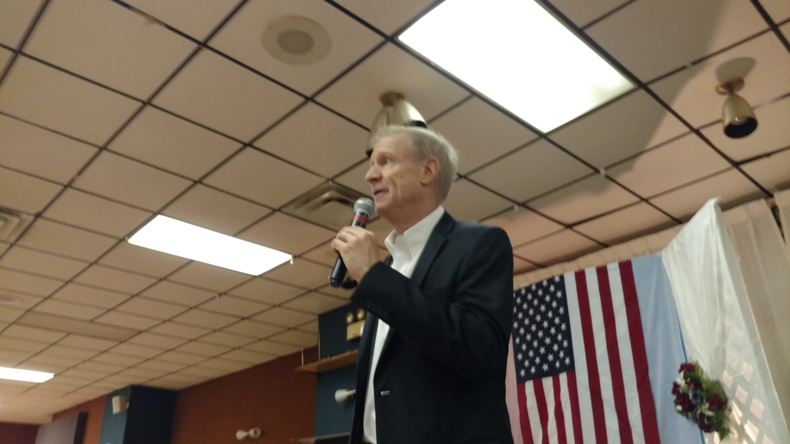Gov Rauner blasts Madigan at Fayette Co LDD, says it's time to get him out as Speaker