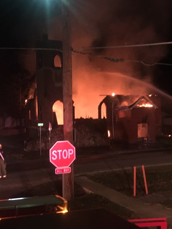 Fire at Church Building in St. Elmo leads to several Departments Assisting to fight the blaze