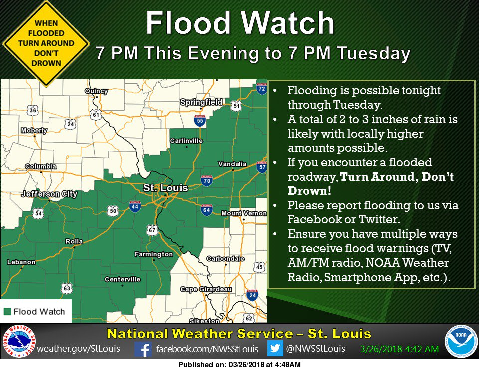 Flood Watch in effect from this evening thru Tuesday evening