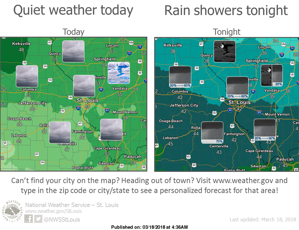 Warmer today, more rain on the way for Monday