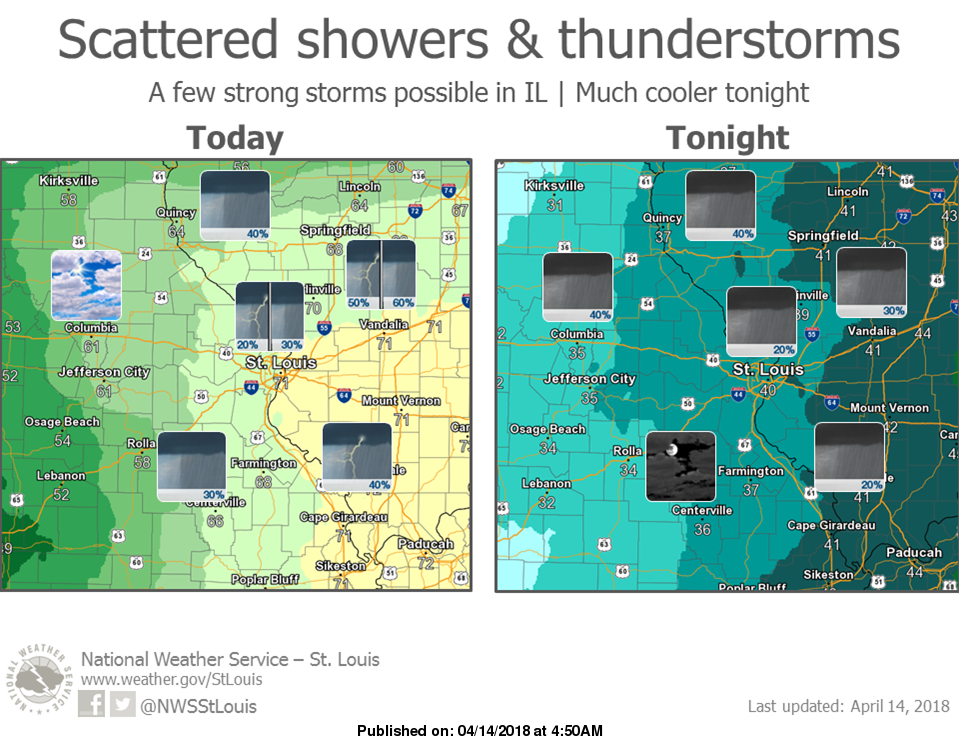 Strong to Severe Storms are possible for today around the area