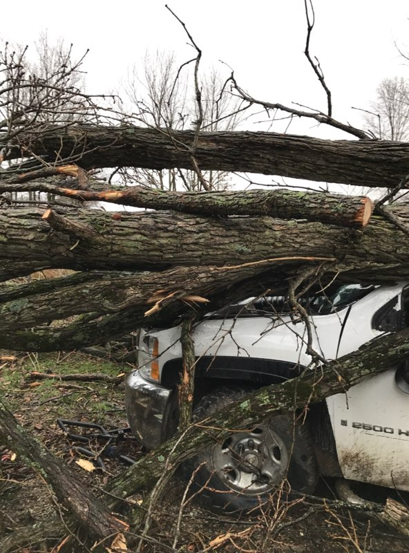 Major Storm Damage hits southern half of Fayette County