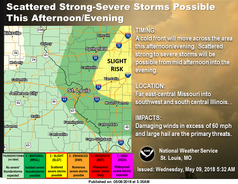 Showers & Storms likely today---Severe Storms Possible