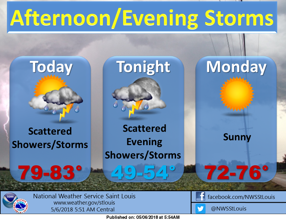 Chance of storms today & tonight