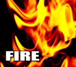 Fire at Lake Mattoon