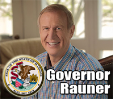 Gov. Rauner congratulates volunteers at Hometown Awards