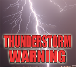 Thunderstorm Warning Issued
