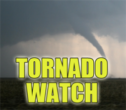 Tornado Watch Issued: New, Tuesday, Feb 28 at 3pm