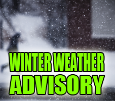Winter Weather Advisory Issued for Several Indiana Counties