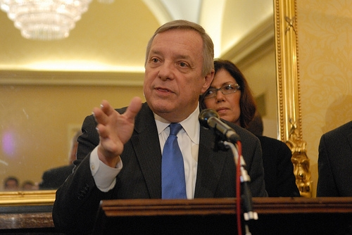 Durbin Raps Rauner Over School Funds
