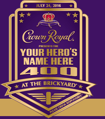 Register to win for the Crown Royal 400