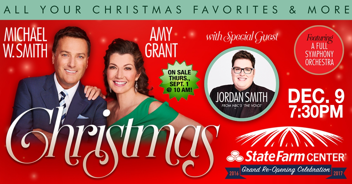 Christmas Tour with Michael W. Smith and Amy Grant to Visit December 9