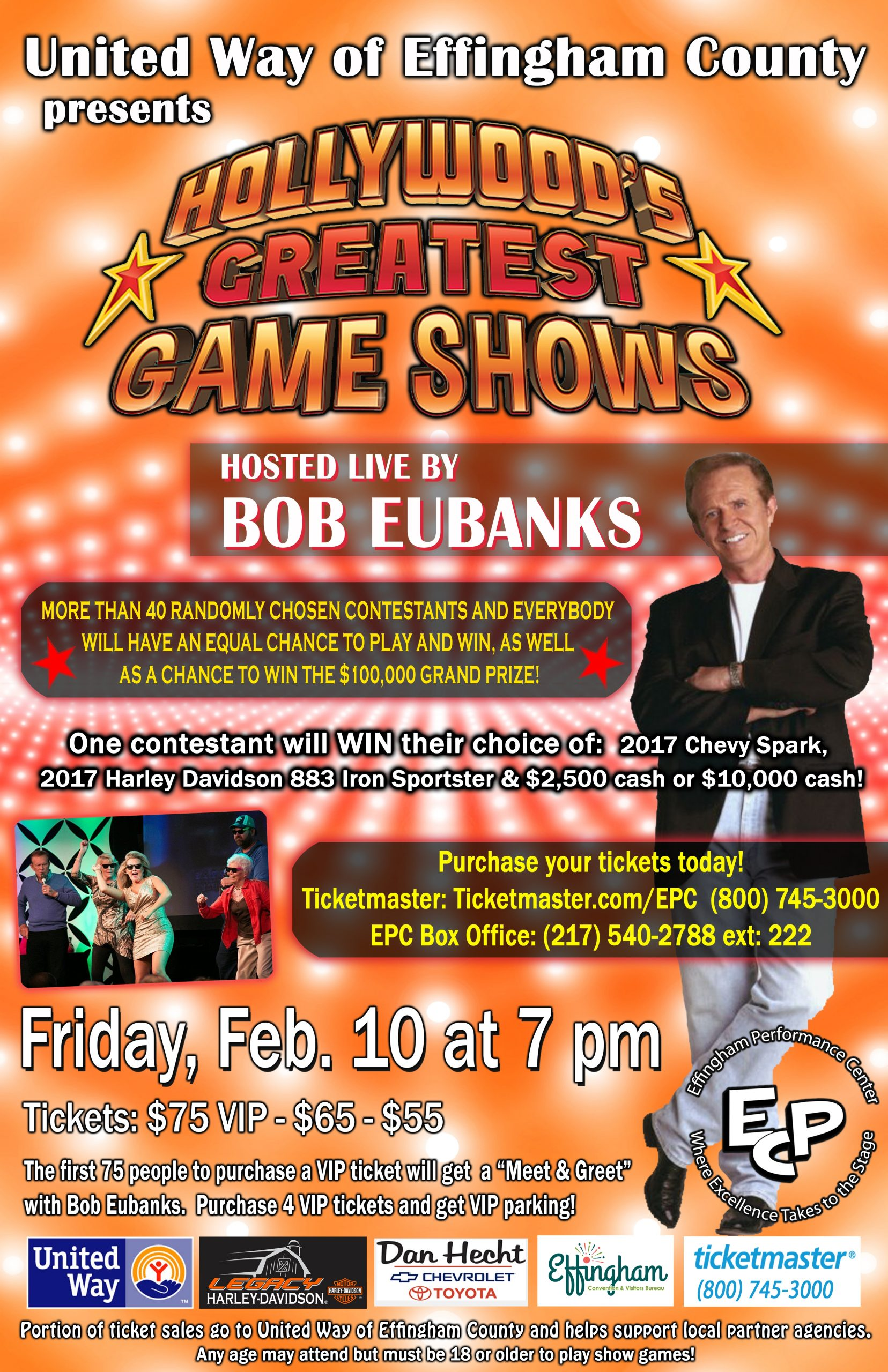 Hollywood's Greatest Game Shows Coming to Effingham