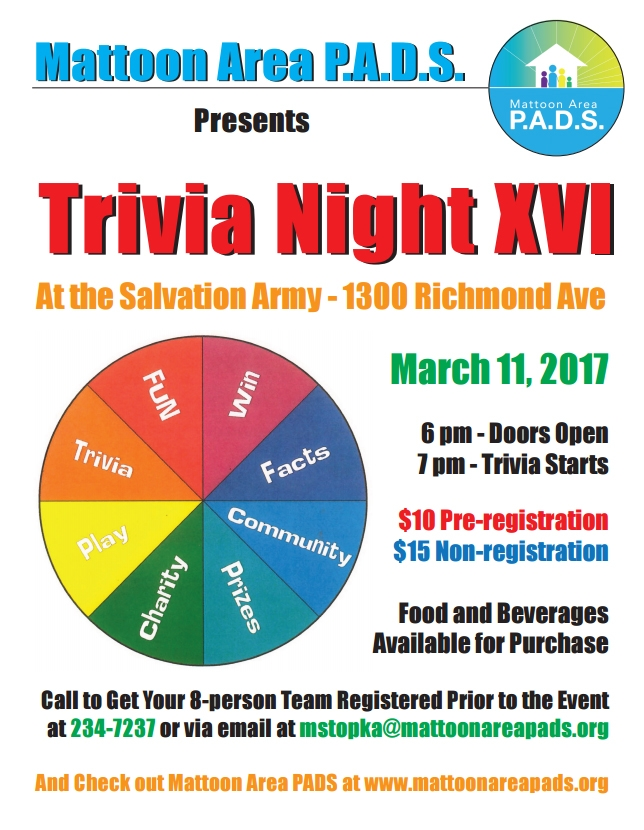 PADS TRIVIA NIGHT