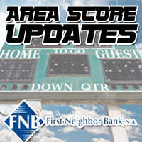 First Neighbor Bank Scoreboard: 7th Grade Volleyball and High School Scholastic Bowl (3/5)