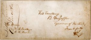 Lincoln Australian envelope, photo courtesy of the Illinois Historic Preservation Agency and the Abraham Lincoln Presidential Library