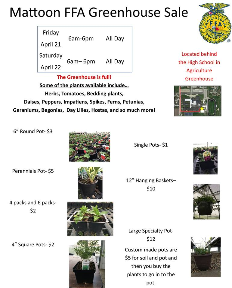 Mattoon FFA Greenhouse Sale