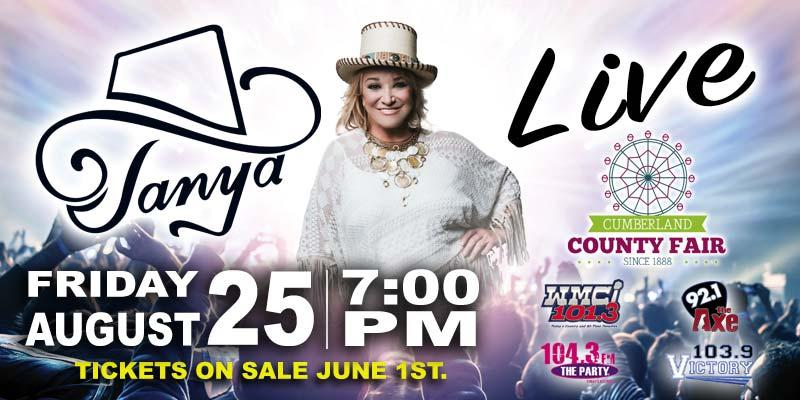 Tanya Tucker to Play the Cumberland County Fair