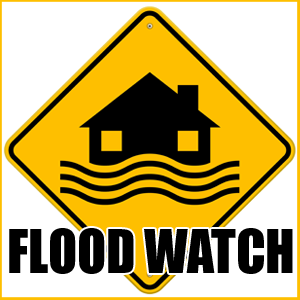 NWS: Flood Watch for Portions of our Listening Area
