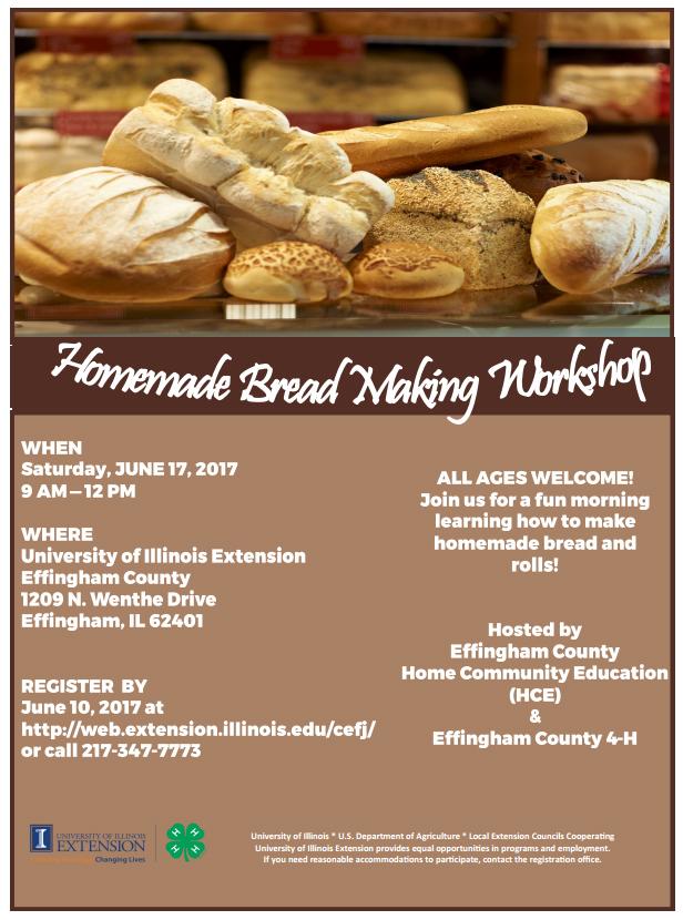 Homemade Bread-Making Workshop in Effingham