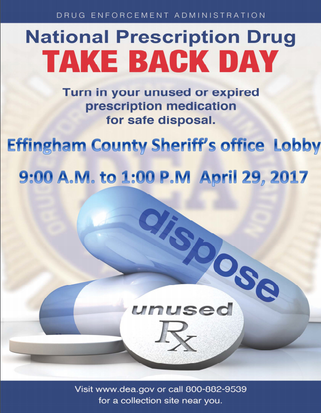 National Take Back Day in Effingham County
