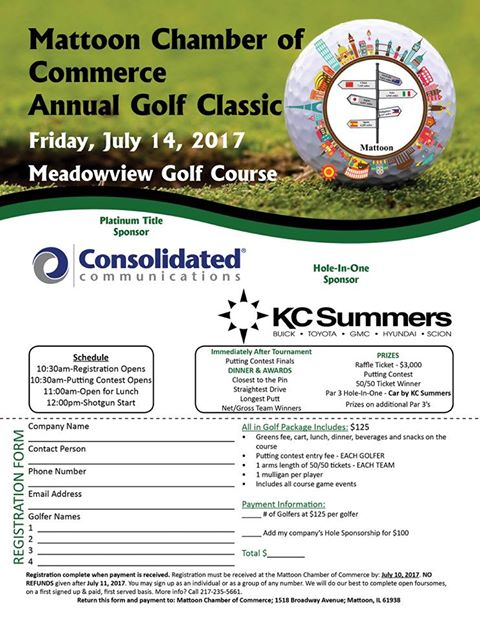 Mattoon Chamber Golf Classic Friday