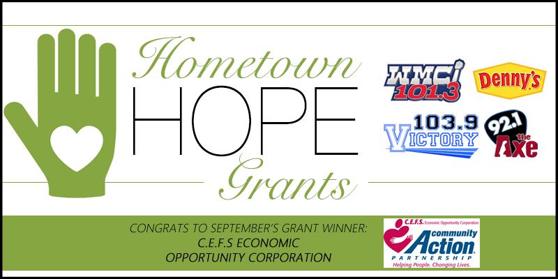 Hometown HOPE Grant - September Winner