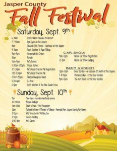jasper-county-fall-festival-2017-schedule-of-events